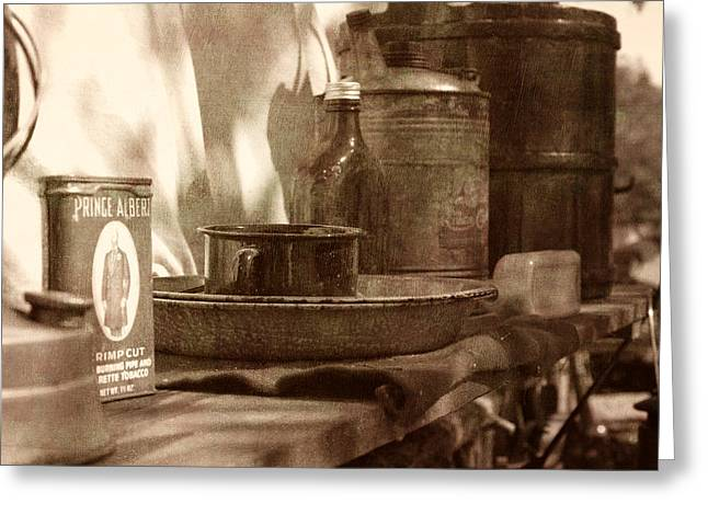 Textured Photograph Greeting Cards - Chuckwagon sideboard Greeting Card by Toni Hopper