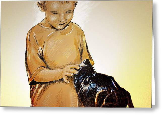 Cross Breed Greeting Cards - Chuey and Me II Greeting Card by Arne Hansen