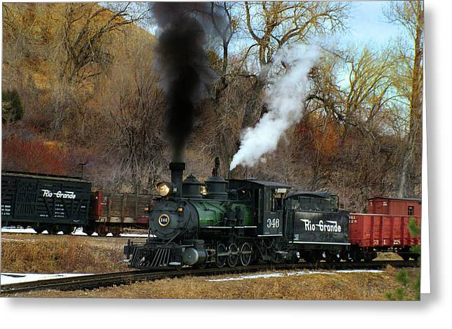 Colorado Railroad Museum Greeting Cards - Chug-a-Chug Greeting Card by Ken Smith