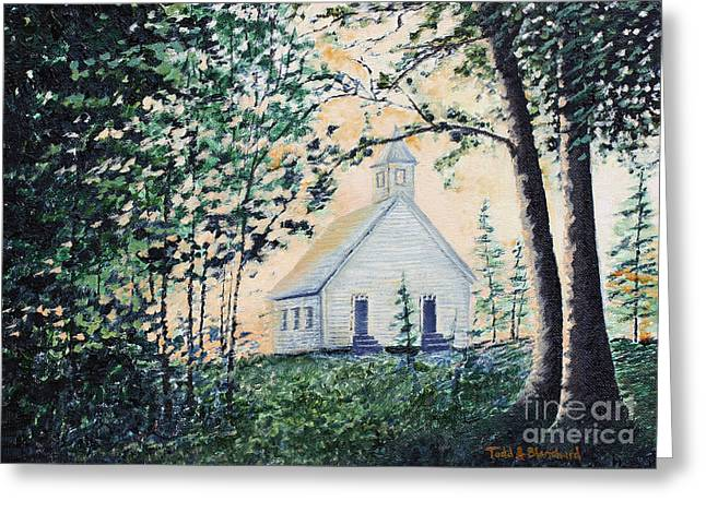 Tn Paintings Greeting Cards - Church at Cades Cove Greeting Card by Todd A Blanchard