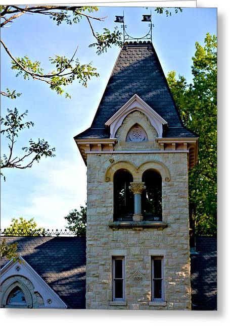 Church Bell Tower Greeting Card by Richard Jenkins