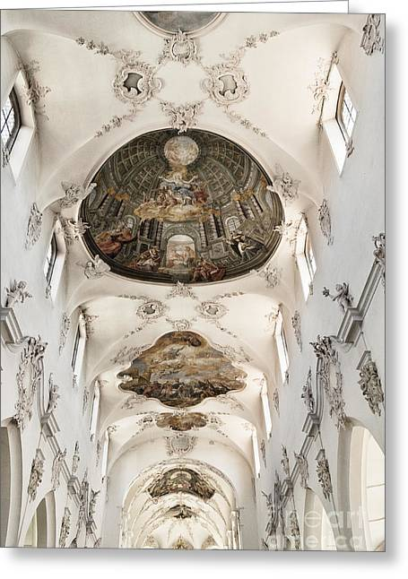 Barock Greeting Cards - Church Ceiling Greeting Card by Brothers Beerens