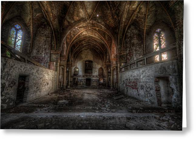 Old Rock Buildings Greeting Cards - Church empty Greeting Card by Nathan Wright