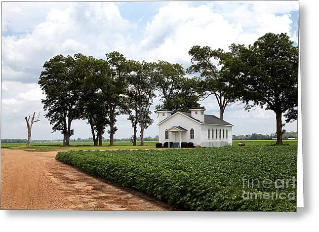 Church From The Help Movie In Mississippi Greeting Card by T Lowry Wilson
