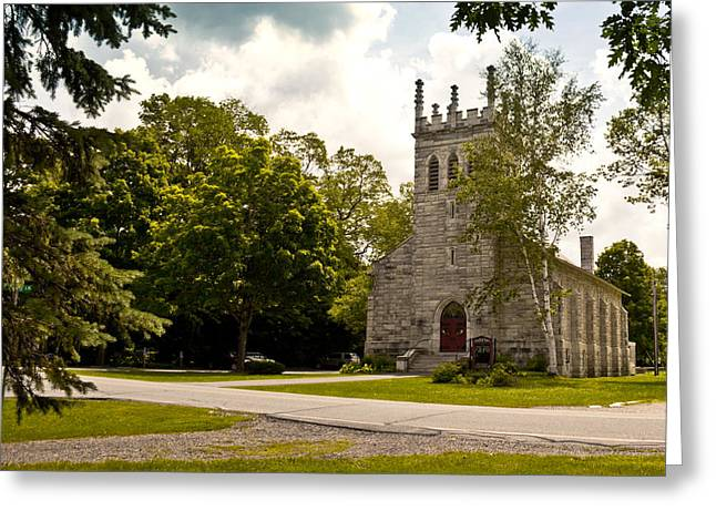 Church In Dorset, Vermont Greeting Card by Lynne Albright