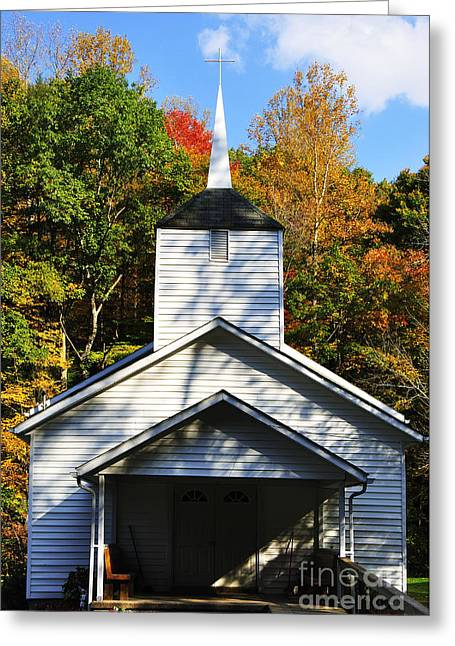 Allegheny Greeting Cards - Church in the Mountains Greeting Card by Thomas R Fletcher