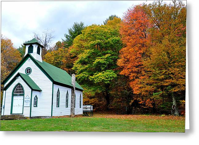 Autum Greeting Cards - Church in the Wildwood Greeting Card by Todd Hostetter