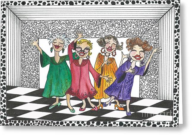 Church Ladies Greeting Card by Nan Wright