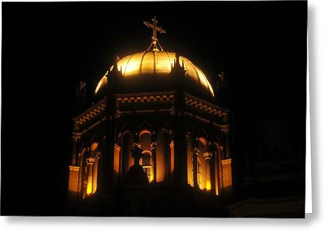 Flagler Greeting Cards - Church lights Greeting Card by David Lee Thompson