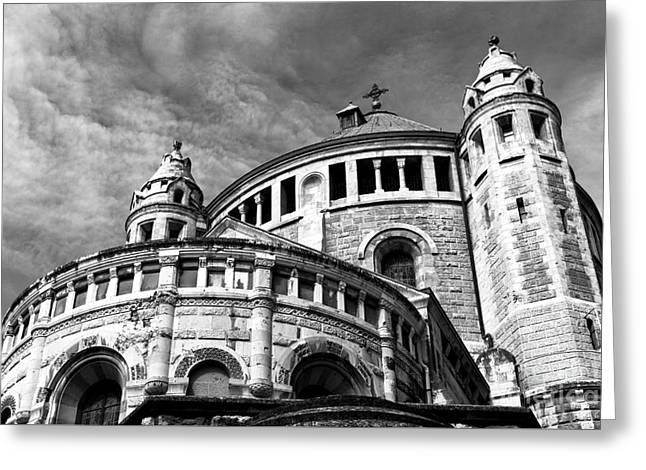 Last Supper Greeting Cards - Church of Dormition Greeting Card by John Rizzuto