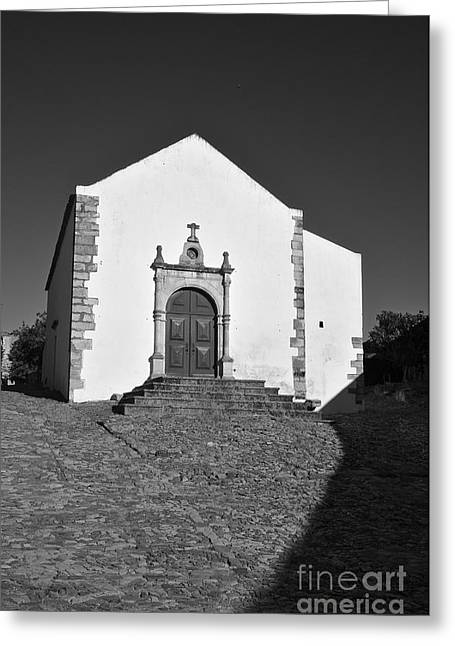 Medieval Temple Greeting Cards - Church of Misericordia in Monochrome Greeting Card by Angelo DeVal