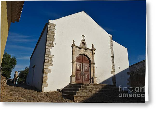 Medieval Temple Greeting Cards - Church of Misericordia. Portugal Greeting Card by Angelo DeVal