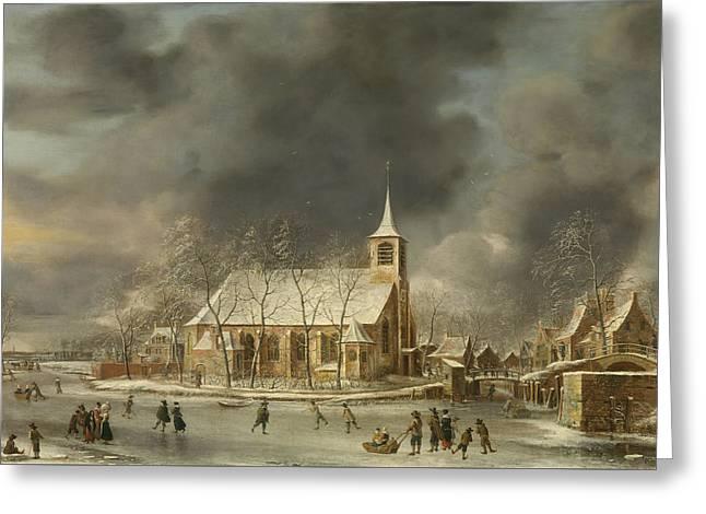 Church Of Sloten  Greeting Card by Roy Pedersen