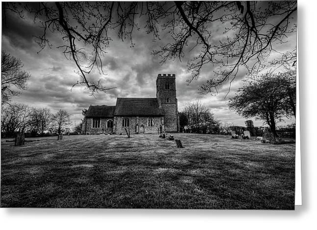 Church Of St Botolph Churchyard Greeting Card by Nigel Bangert