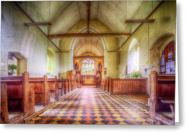 Church Of St Botolph Interior Greeting Card by Nigel Bangert