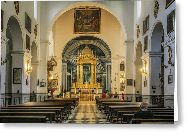 Tabernacle Greeting Cards - Church of St Peter and St Paul Greeting Card by Joan Carroll