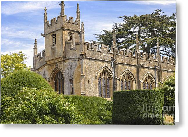 British Royalty Greeting Cards - Church of Sudely castle Greeting Card by Patricia Hofmeester
