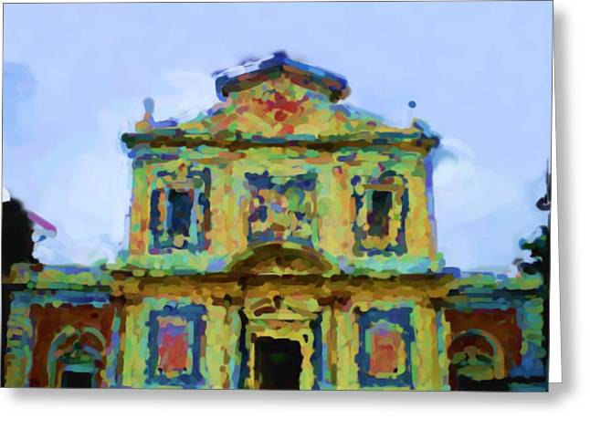 Asbjorn Lonvig Digital Art Greeting Cards - Church of the Knights of the Holy and Military Order of St. Stephen Greeting Card by Asbjorn Lonvig