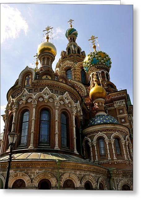 Church On Spilled Blood Greeting Cards - Church of the Savior on Spilled Blood Greeting Card by Barbara Stellwagen