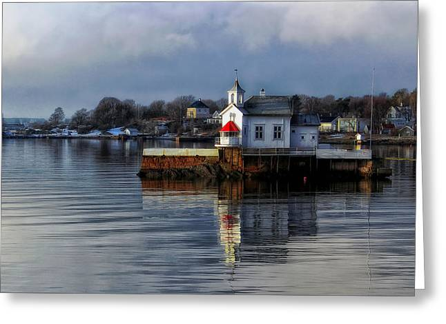 Church On The Bay- Oslo Norway Greeting Card by Mountain Dreams