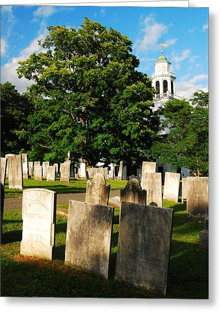 Berkshires Of New England Greeting Cards - Church on the Hill Greeting Card by James Kirkikis
