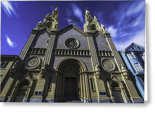 Church Greeting Card by Phil Fitzgerald