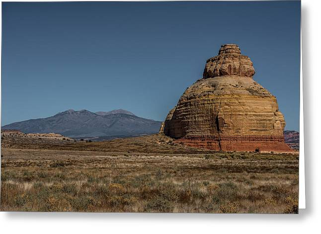 Holes In Sandstone Greeting Cards - Church Rock Utah Greeting Card by Paul Freidlund