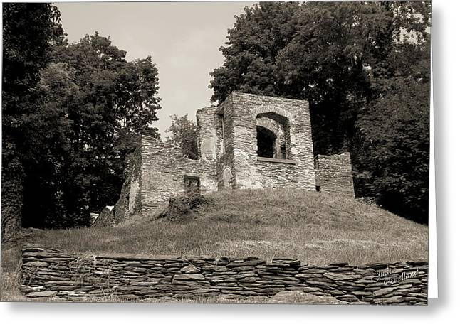 Harpers Ferry Greeting Cards - Church Ruins in Harpers Ferry Greeting Card by Judi Quelland
