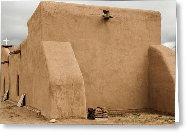 New Greeting Cards - Church Taos Pueblo Greeting Card by Allen Erwin