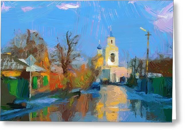City Art Greeting Cards - Church View 01 Greeting Card by Yury Malkov
