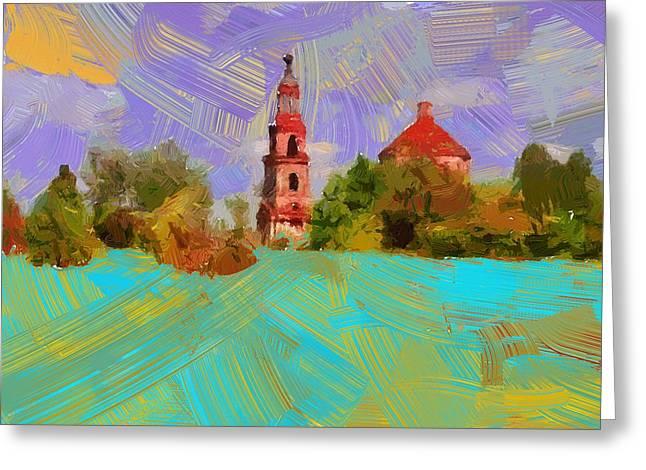 City Art Greeting Cards - Church View 02 Greeting Card by Yury Malkov