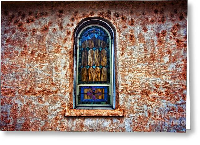 Adobe Greeting Cards - Church Window Greeting Card by Ray Laskowitz - Printscapes