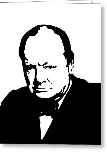 Churchill Greeting Card by War Is Hell Store