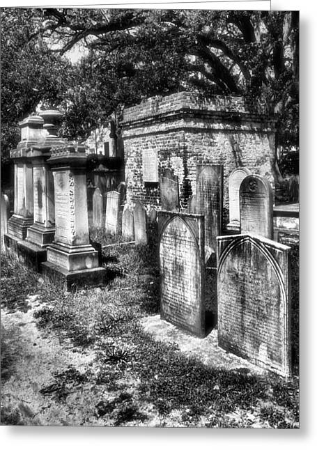 Headstones Greeting Cards - Churchyard of Old Charleston Greeting Card by Steven Ainsworth
