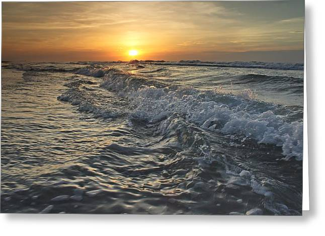 Beach Photography Greeting Cards - Churning Sea Greeting Card by Brian Hamilton