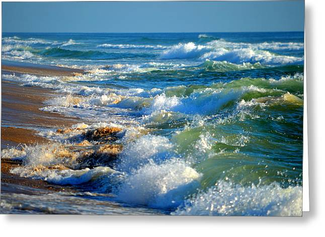Aquatic Greeting Cards - Churning Sea Greeting Card by Dianne Cowen
