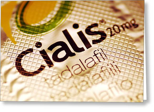 Health Greeting Cards - Cialis Packaging Greeting Card by Pasieka