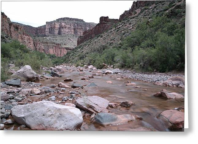 Ledge Greeting Cards - Cibola Creek Greeting Card by Jeff  Swan