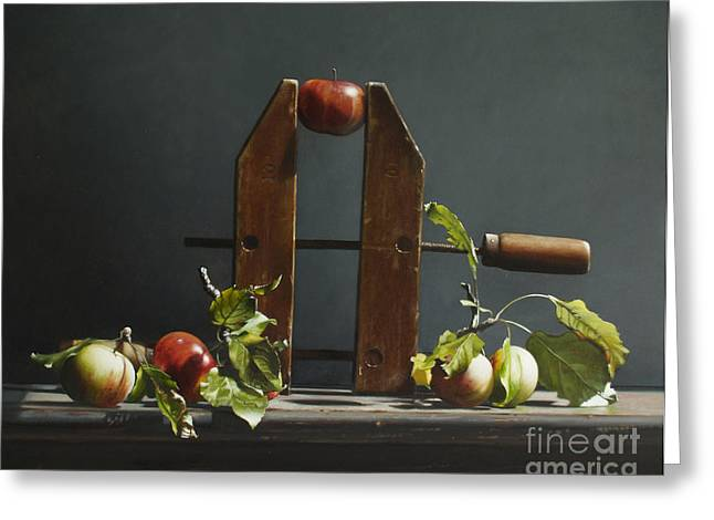 Carpenter Greeting Cards - Cider  Greeting Card by Larry Preston