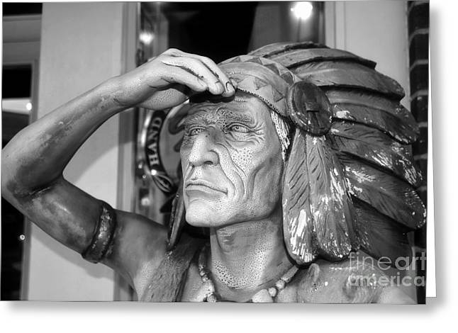 Ybor City Greeting Cards - Cigar City Indian Greeting Card by David Lee Thompson