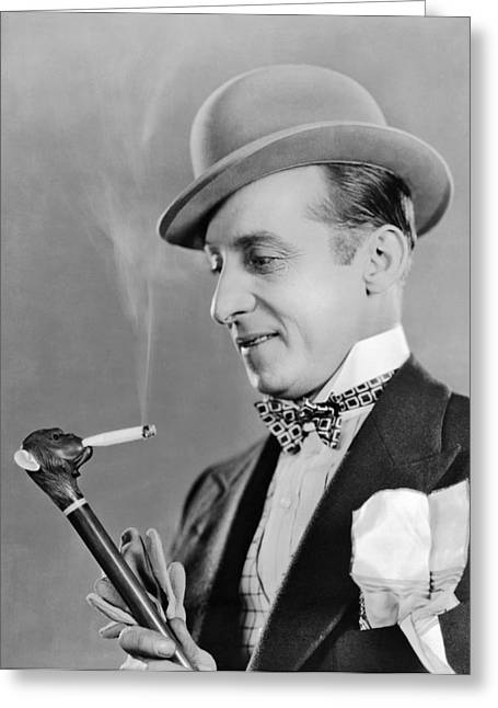 Cigarette Smoking Cane Greeting Card by Underwood Archives