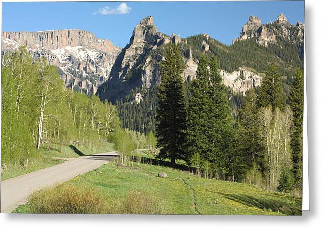 West Fork Greeting Cards - Cimarron Country Greeting Card by Eric Glaser