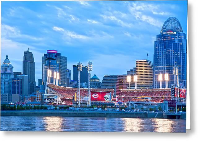 Allstar Greeting Cards - Cincinnati All Star Game  Greeting Card by Randall Branham