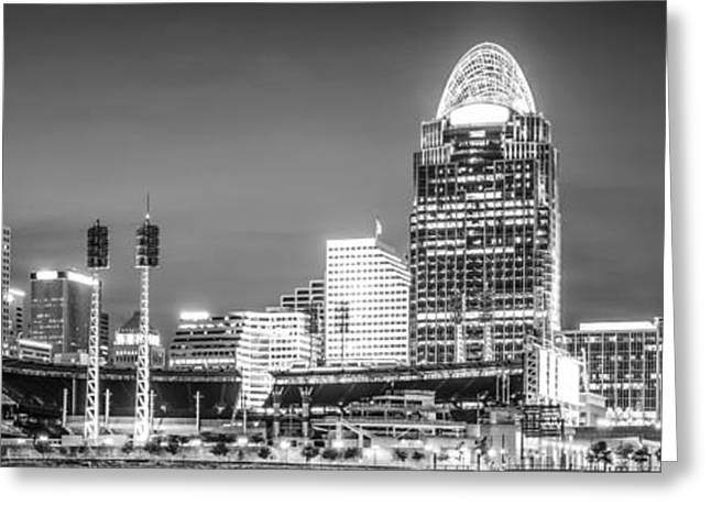 Cincinnati Skyline Panorama Picture Greeting Card by Paul Velgos