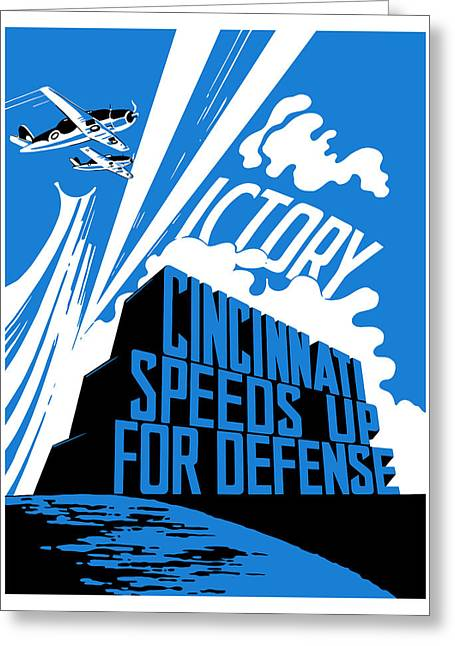 Ww11 Greeting Cards - Cincinnati Speeds Up For Defense Greeting Card by War Is Hell Store