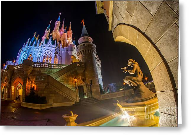 Fantasy World Greeting Cards - Cinderella and Her Castle Greeting Card by Jeffrey Miklush