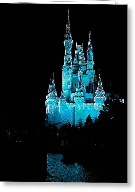 Wdw Greeting Cards - Cinderellas Castle 1 Greeting Card by Frank Mari