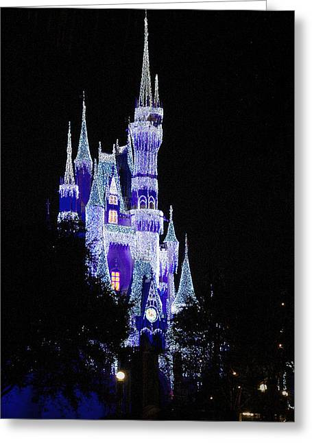 Wdw Greeting Cards - Cinderellas Castle 2 Greeting Card by Frank Mari