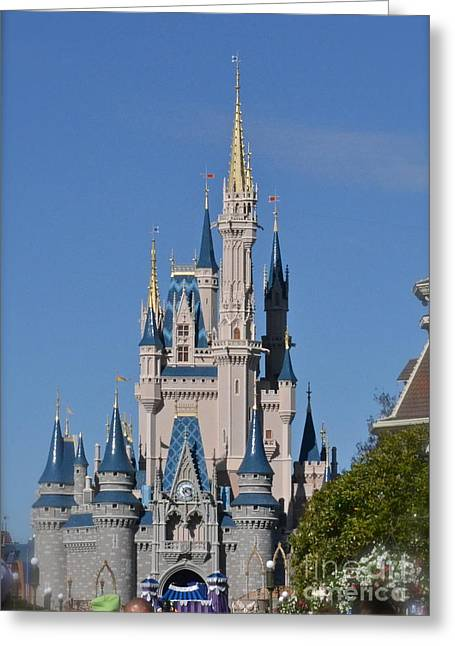 Wdw Greeting Cards - Cinderellas Castle Greeting Card by Carol  Bradley