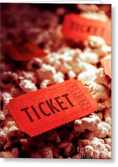 Cinema Ticket On Snackbar Food Greeting Card by Jorgo Photography - Wall Art Gallery